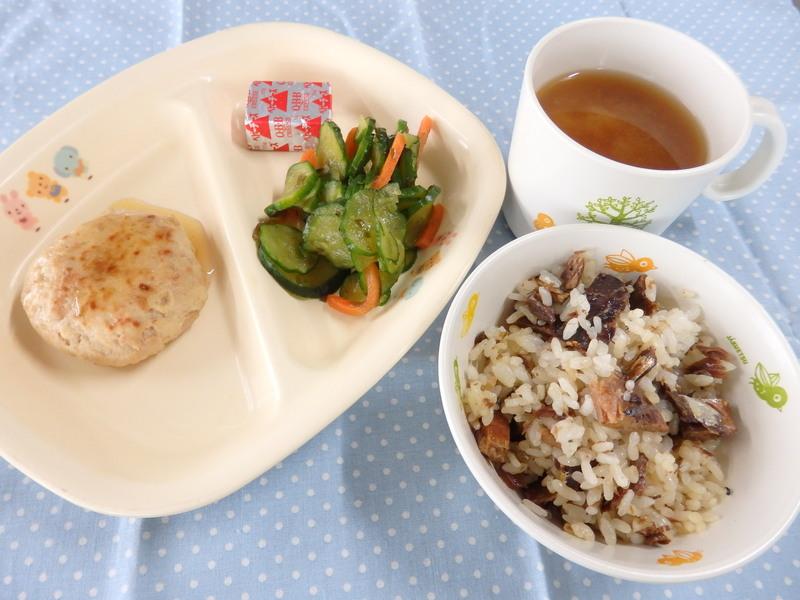 さんまのまぜごはん 和風入り豆腐の包み焼