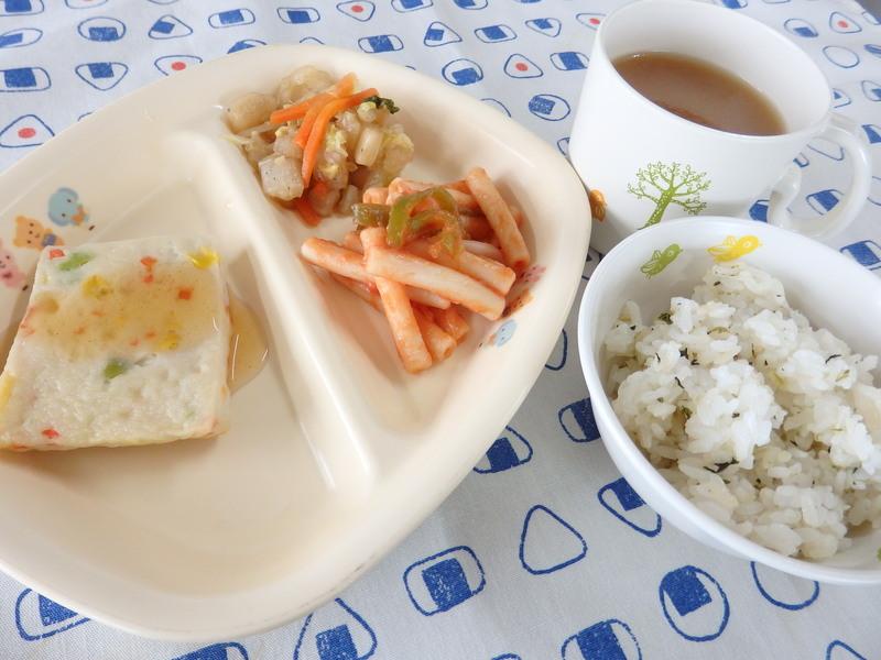 菜めしごはん 白身魚と野菜のステーキ