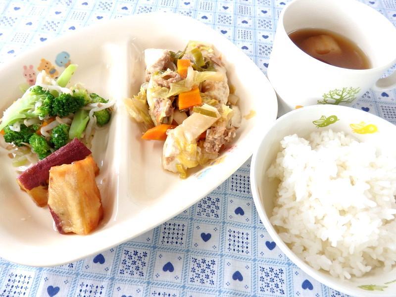 ごはん ツナと豆腐の和風煮