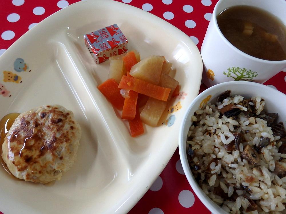 骨丸ごとさんまのまぜごはん 和風炒り豆腐の包み焼き