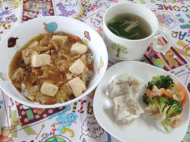 五目マーボー豆腐丼